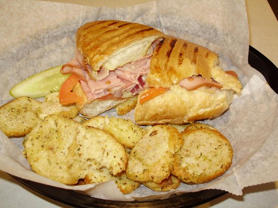 Hudson Bagel & Coffee Co.: Hot Ham & Cheese Panini