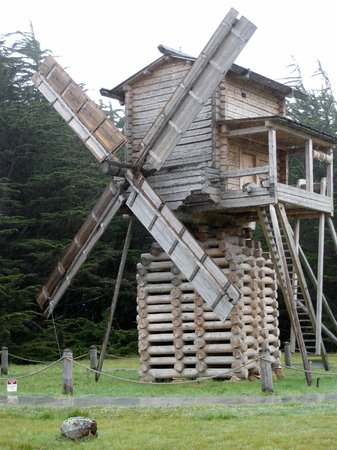 Fort Ross State Historic Park: Fort Ross windmill, replica