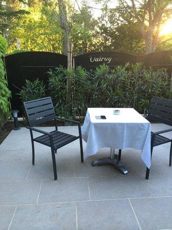 Hotel Le Vallon de Valrugues & Spa : Terrasse privative.