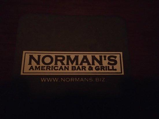 Norman's Tavern: Cardápio