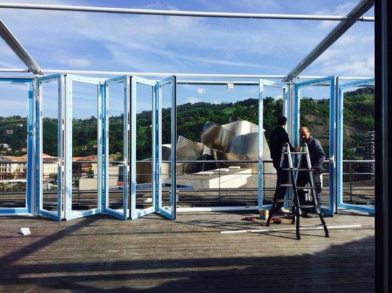 Gran Hotel Domine Bilbao: Patio renovations