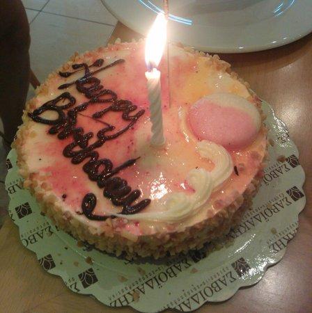 Agla Hotel: Birdhday cake