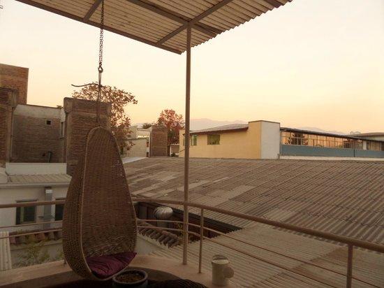 Mito Casa Hotel : Vista da varanda ao cair da tarde