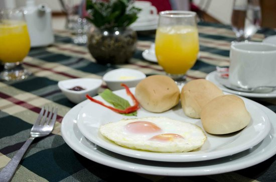Virrey Inn: Nuestro desayuno Tipo Americano