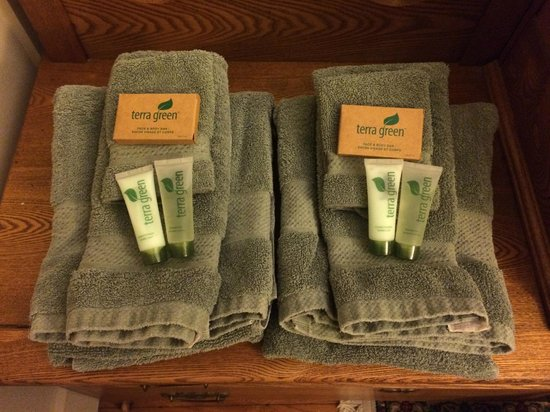 Chesley Road Bed and Breakfast: loved their towels and toiletries!