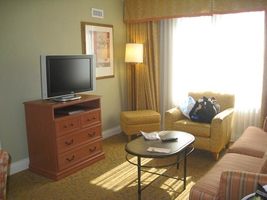 Homewood Suites by Hilton Palm Beach Gardens: living room area