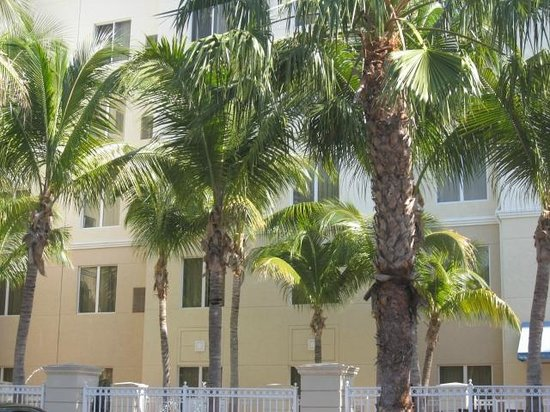 Homewood Suites by Hilton Palm Beach Gardens: back of hotel by pool
