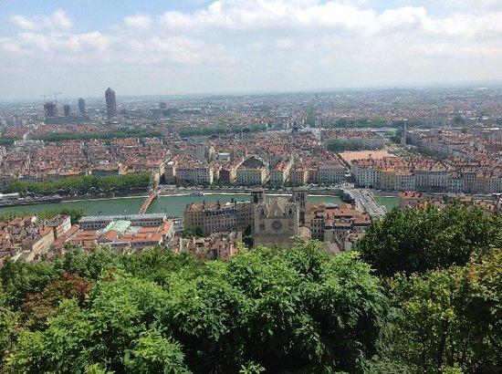Colline de Fourvière : View of Lyon from Basilique
