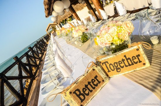 Las Nubes De Holbox : Wedding Dinner Reception at Las Nubes