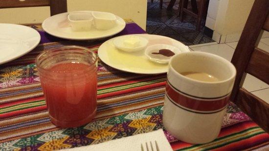 B&B Miraflores Wasi: fresh juice. great coffee