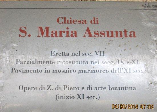Isla de Torcello: History of Santa Maria Assunta