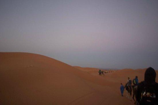 Merzouga Desert: 夕闇の中の砂漠