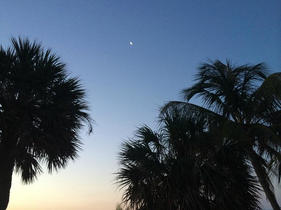 High Noon Beach Resort: Moon from deck