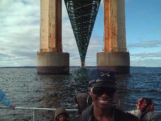 Ugly Anne Boat Cruises: Underneath Mackinac City Bridge