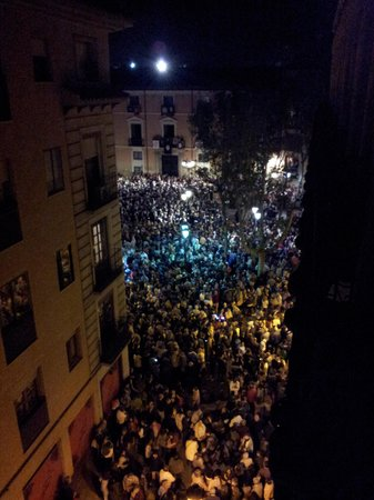 Catalonia El Pilar: View of procession from balcony