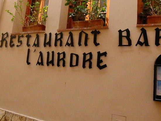 L'Aurore・・・サイン