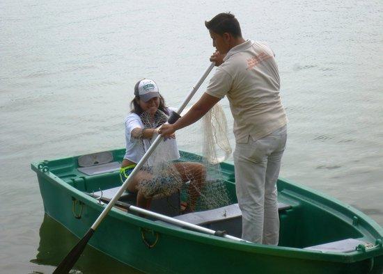 Zopango Island: Traditional fishing-with a net