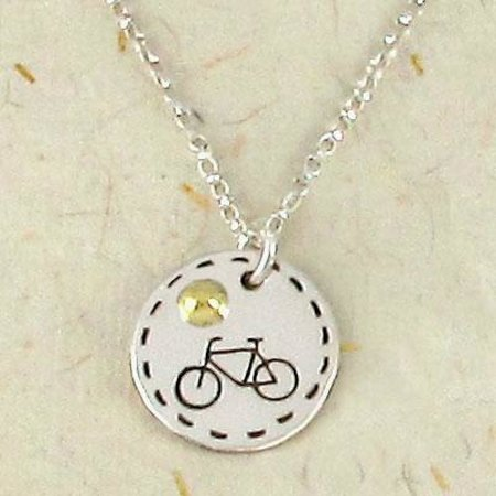Kretyen LLC: Sterling silver bicycle sendant handmade in Mexico