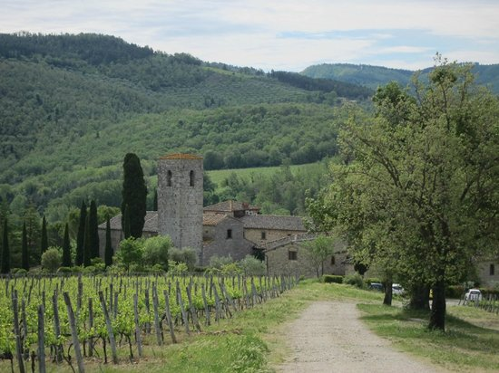 Castello di Spaltenna Exclusive Tuscan Resort & Spa: View from the path above