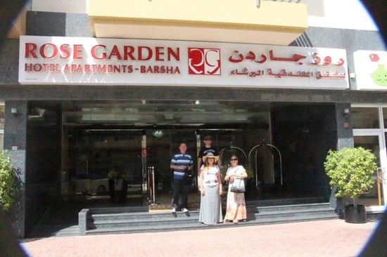 Rose Garden Hotel Apartments - Al Barsha : Entrada do ROSE GARDEN (Al Barsha)