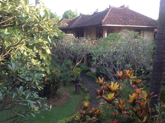 Rambutan Boutique Hotel: Upstairs balcony view - our room was at the back of the property, quiet and recluded