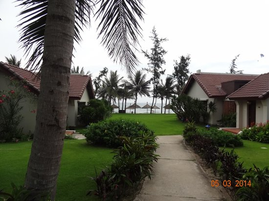 Palm Garden Beach Resort & Spa: View of the beach from our room