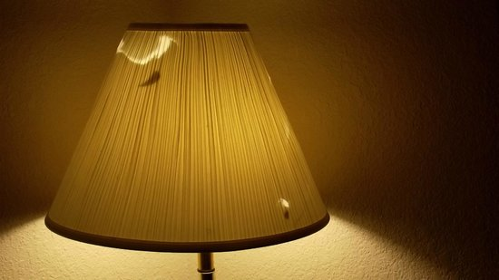 Super 8 Dothan : worn / cracked lampshade