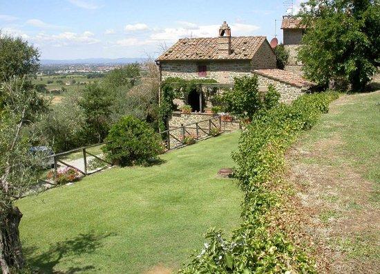 Azienda Fontelunga : Casa Fontelunga, central level garden