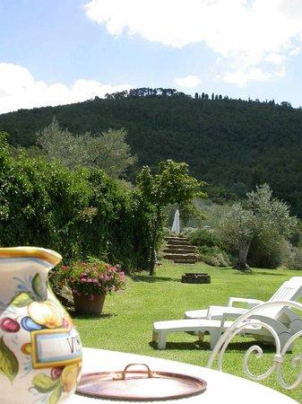 Azienda Fontelunga: Casa Fontelunga, wiev of Sepoltagli mountain