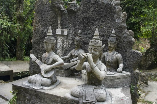 Secret Buddha Garden: A statue in the garden