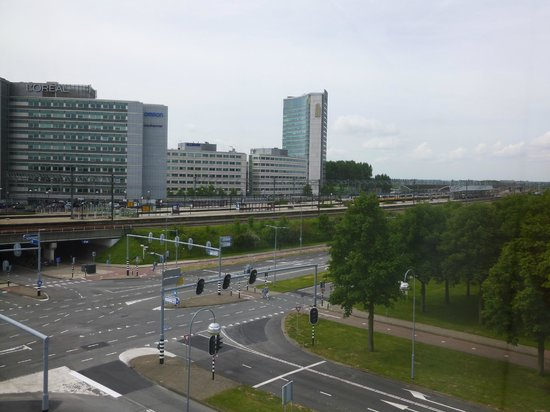 Hampton by Hilton Amsterdam Airport Schiphol: View from our room.  Train station across road