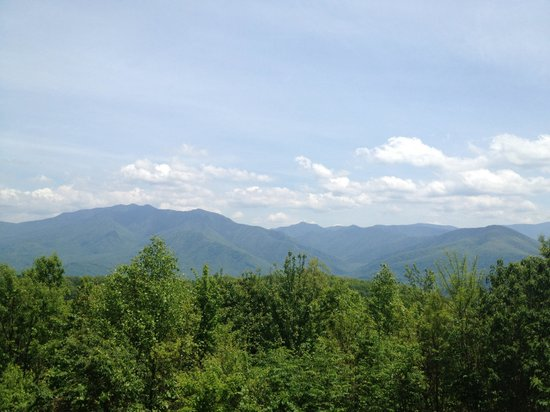 Ober Gatlinburg Amusement Park & Ski Area: View from the top observation point. Best view in Tennessee!