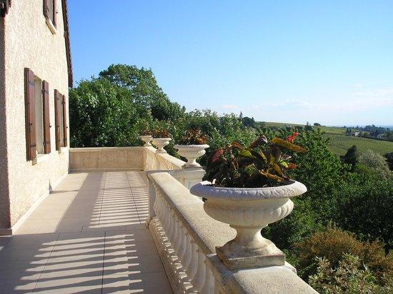 Chambres d'Hôtes Davenay : une vue superbe du balcon