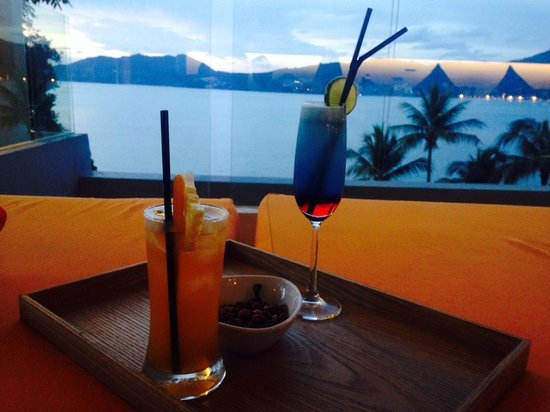 Amari Phuket: Can't beat cocktails in the top bar watching the sunset