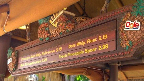 Tiki Juice Bar: Menu