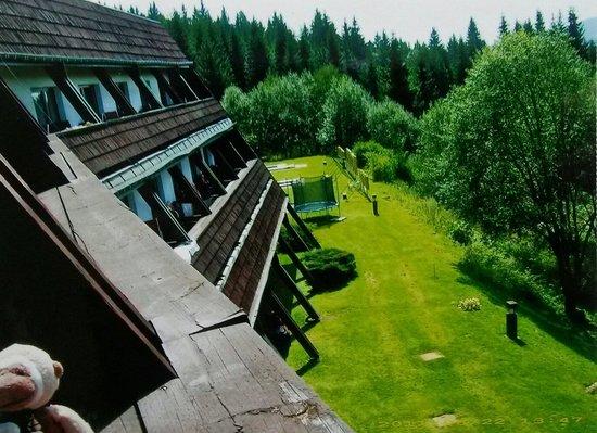 Blick vom Balkon des Hotel Arnika