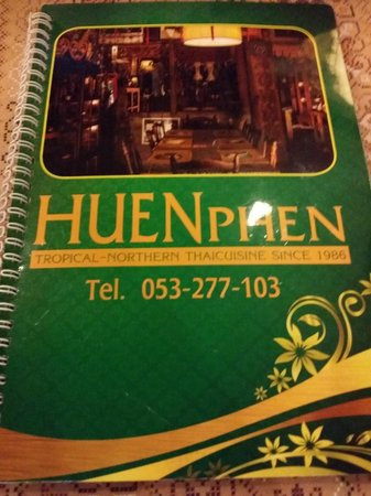 Huen Phen: DINNER menu. Lunch menu is different.