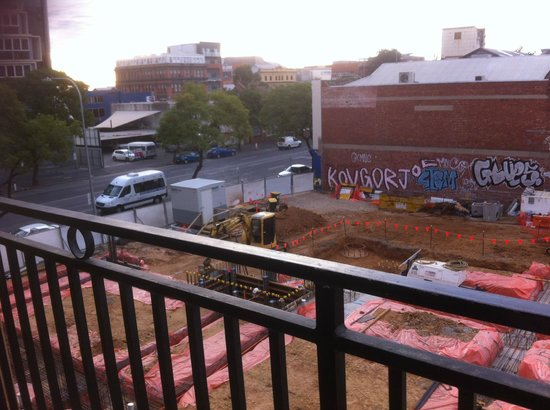 Regency Apartments: View from our balcony-Construction area