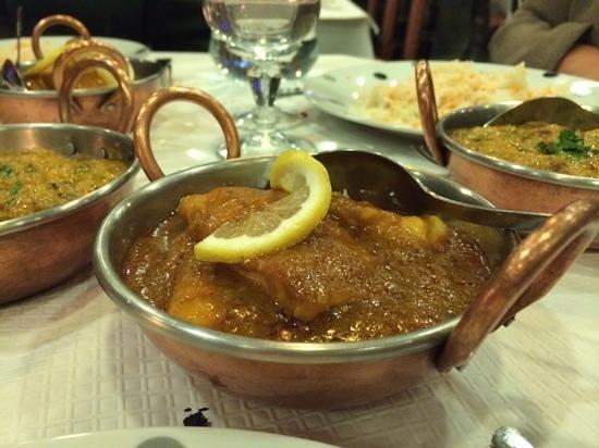 palais de l'inde : poisson au curry (plat principal)