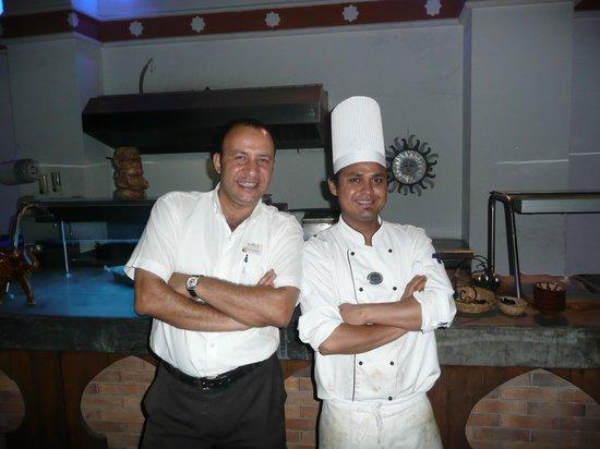 SunConnect Sunrise Diamond Resort: Mohamed & Chef ( Indian Restaurant )