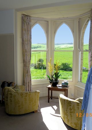 Bindon Bottom B&B: View from Hardy room window