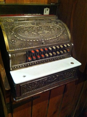 Ball and Chain Grill : Old school cash register at Ball and Chain