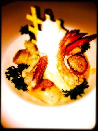 Le Taom : Rissoto de crevette / st Jacques