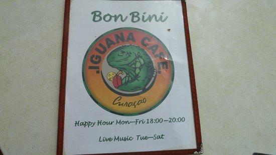 Iguana Cafe Sign