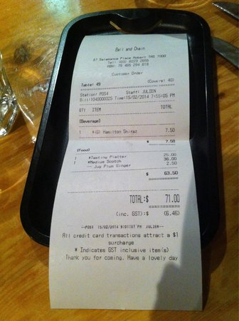 Ball and Chain Grill : One wine, one bigger cut of scotch fillet, one appetizer platter and free flow salad bar for $71