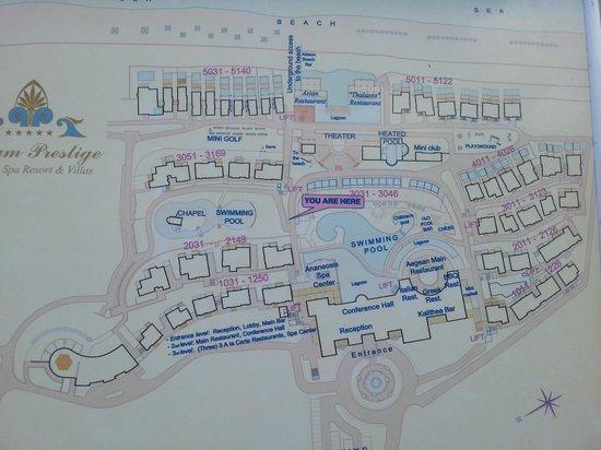 Atrium Prestige Thalasso Spa Resort and Villas: Hotel map