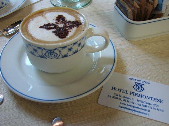 Best Western Hotel Piemontese : nice capuccio to start the day