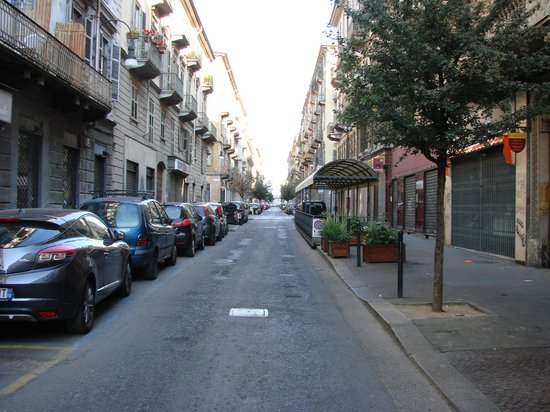 Best Western Hotel Piemontese : the street...not my favourite