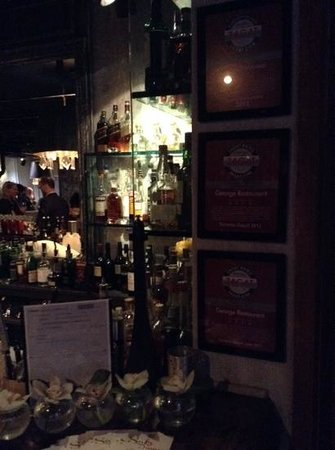 GEORGE Restaurant: bar et Zagat certification