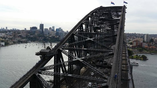 Pylon Lookout at Sydney Harbour Bridge: bridge view